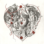 Heart shaped collectionof cats