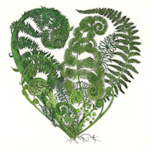 image of fern heart