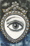 Detail from a victorian lover's eye locket